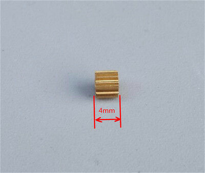 5PCS Brass Metal Gear 0.3M 14T Aperture 2mm Loose Match for Toy Motor DIY