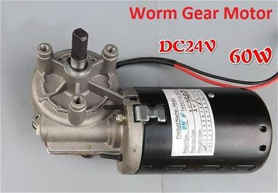 1PCS Worm Gear Motor Self-locking DC24V 60W Metal Gear Positive Inversion