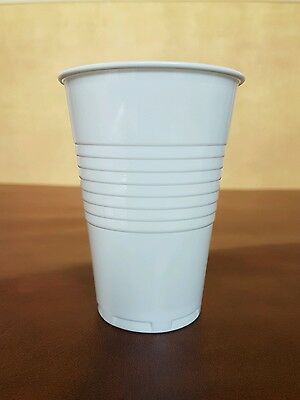 2000 x High Quality White Plastic 9oz Disposable Cups Vending Cups