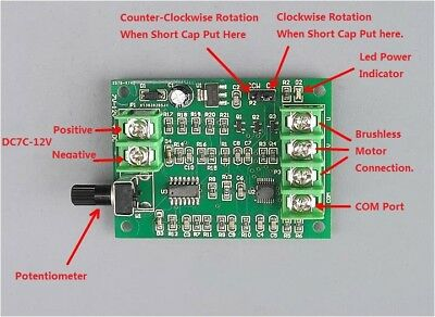 1PCS DC7V-12V Brushless Motor Drive Board Speed Controller for Optical Hard Disk
