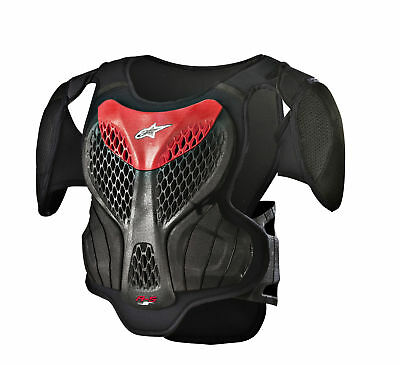 Alpinestars MX/Motocross A-5 S Youth Body Armour Chest/Back Protector Black/Red