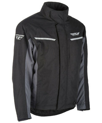 Fly Racing Snow Snowmobile Men's AURORA Jacket (Black/Grey) Choose Size