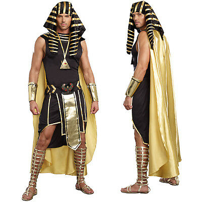Adults Mens Egyptian Pharaoh God King Of Egypt Halloween Fancy Dress Costume