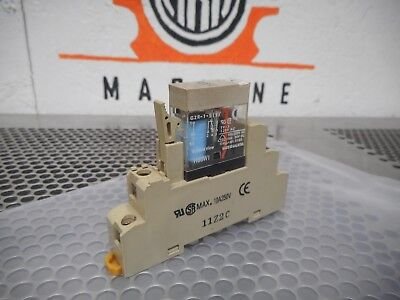 Omron G2R-1-S(S) Relay 120VAC 10A 24VDC Coil & P2RF-05-E Base Used With Warranty