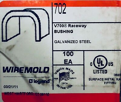 702 Wiremold (BOX OF 100) V700 Raceway Bushing (NEW)