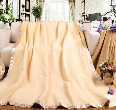 """Pure Mulberry Silk Soft Blanket bed sheet quilt throws 79"""" X 90"""" Christmas gift"""