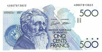 Belgium  500  Francs  ND. 1989  P 143a  Uncirculated Banknote NY1117S