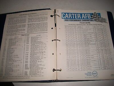 Carter Carburetor Parts List Catalogs 1960-1966. Ford Chevrolet Buick Studebaker