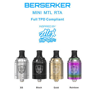 Newly Launched Berserker Mini MTL RTA by Vandy Vape 22mm new Genuine In stock