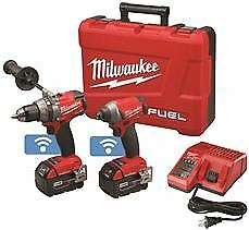 Milwaukee M18 Fuel Drill/Driver And 1/4 In. Hex Impact Driver Combo Kit With On