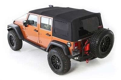 2010 2017 Jeep Wrangler Unlimited Twill Replacement Soft Top U0026 Tinted  Windows