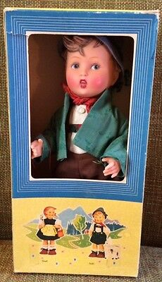 "Original M.J. Hummel RARE Schorschl Doll 11.5"" Vintage Tag-and original box!"