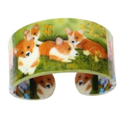 AKC Pembroke Welsh Corgi Dog Cuff Bracelet Jewelry sweet!!