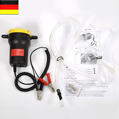 12V 60W Oil Fluid Extractor Transfer Pump Electric Siphon Car Motorbike Remove-
