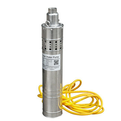 120m/394ft Solar Pump Submersible Deep Well Water Bore Pump 24V for Irrigation