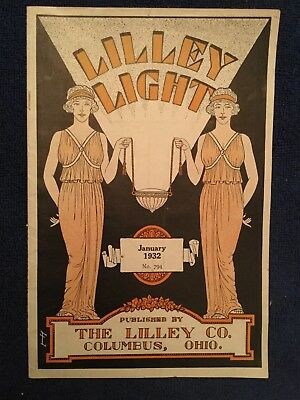 Vintage Advertising Brochure LILLEY EIGHT Art Deco January 1932 The LILLEY Co.