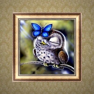 DIY 5D Diamond Embroidery Painting Owl Butterfly Cross Stitch Craft Home Decor