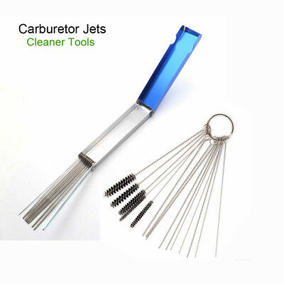 Carburetor Cleaning Tool Needles Brushes Set For Motorcycle Carb Jet Clean tools