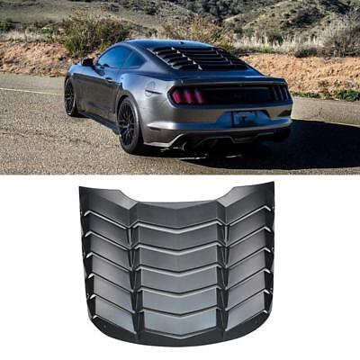 Black Rear Window Louver Sun Shade Cover For Ford Mustang 2015-2018 AU