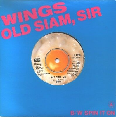 "Paul McCartney and Wings Old Siam Sir - Titled ... UK 7""  record"