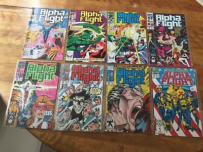 Marvel's ALPHA FLIGHT Issues ranging from #78 to 117 HIGH GRADE  18 Comics Total