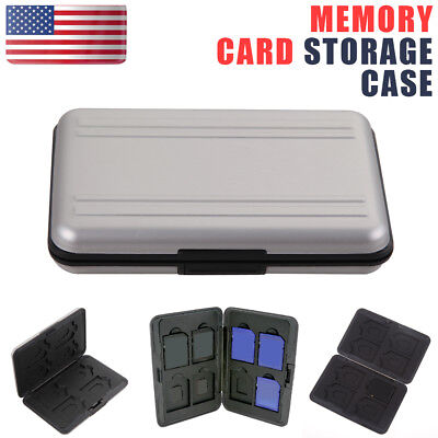 Micro SDXC Storage Holder Memory Card Case Protector Aluminum Material Case US