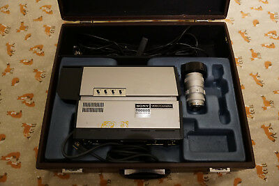 Vintage Sony AVC-3260 Television TV Video Camera with Case & Lens 1:2 16-64mm