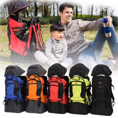 Child Kid Carrier Baby Toddler Hiking Walking Backpack With Sun Canopy Raincover