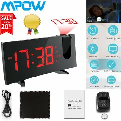 MPOW Digital Radiowecker mit Projektor Projektion LED Display 2 Wecker Radio