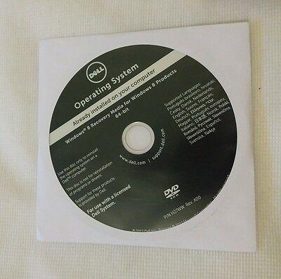 Genuine Dell Windows 8 Pro 64 Bit Dvd New And Sealed