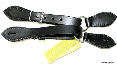 Spur Straps Leather Ring Style  - Easy On and Off - New - Imp USA