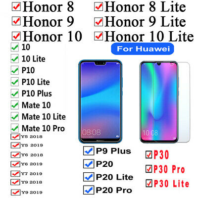 1/2X Real Tempered Glass Screen Protector Cover for Huawei P8/P9/P10 Plus/Lite D