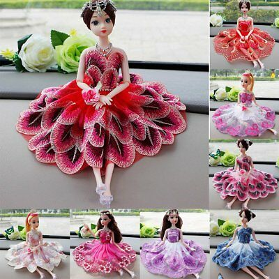 Handmade Diamond Princess Dress Wedding Party Mini Gown Clothes For Barbie Doll