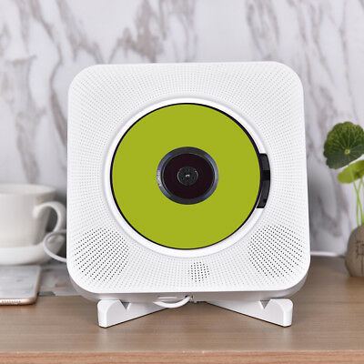 CD Player Wall Mountable Bluetooth Boombox Portable Home Audio with Remote wk