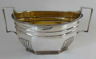 George III large solid silver SUGAR BOWL London 1805 Solomon Hougham 10 tr oz.