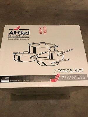 All-Clad Metalcrafters LLC Stainless 7-Piece Set BRAND NEW