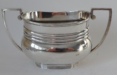 Silver sterling Sugar Bowl Sheff. 1916 5.33 troz / 165.9g  14cm x 7.5cm antique