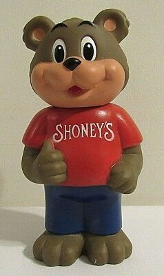 Vintage Stoney's Big Boy Restaurant Vinyl Bear Novelty Coin Bank