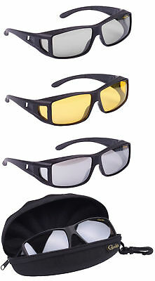Gamakatsu G-Glasses Over Glass Amber Light Gray Polarisationsbrille Polbrille