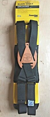 REDUCED! NEW Klein Tools PowerLine Padded Suspenders 5717 - USA Made