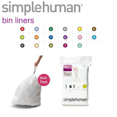 Simplehuman Rubbish Replacement Bin Liners Bags In All Sizes 20 Pack