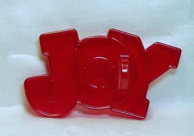 Vintage Design HRM Red Plastic Cookie Cutter - JOY Christmas Faith Wedding Love