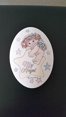 "Ho Dreamsicles Limited Edition ""My Angel"" oval shaped trinket jewelry box."
