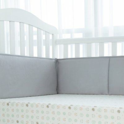 TILLYOU Padded Baby Crib Bumper, Premiun Woven Cotton and Breathable