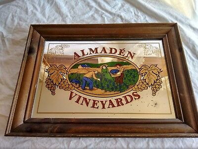 Almaden Vineyards Bar Mirror Vintage Bar Decor