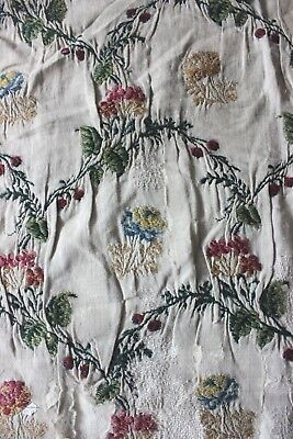 Rare Italian 17thC (1600s) Hand Embroidered Wool On Homespun Linen Fabric