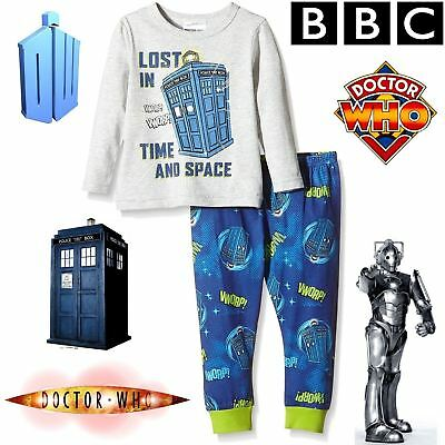 BBC DOCTOR WHO® Classic Lost In Time & Space Tardis Pyjama Set 100% Cotton