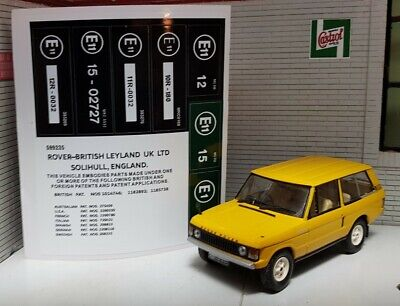 Engine Bay Bonnet Decal Label Sticker Set Early Range Rover Classic V8 Suffix A