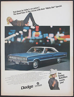 Dodge Coronet 440 Original 1967 White Hat Special Vintage Ad