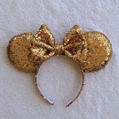 Gold Sequin Minnie Mouse Ears, Sequin Ears, Mickey Mouse Ears, Sequin Mouse Ears